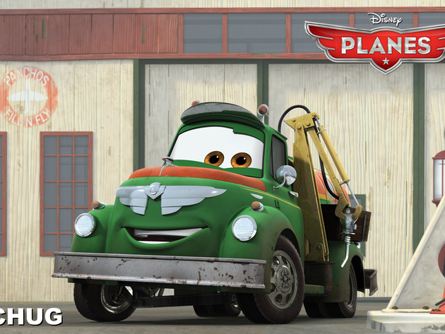 Fuel truck Chug is a guy's guy. He works hard as co-owner of Chug and Dottie's Fill 'n Fly servic...