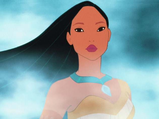 Pocahontas is at one with the world and nature around her.