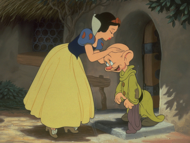 Dopey never says a word, but he inspires many smiles.