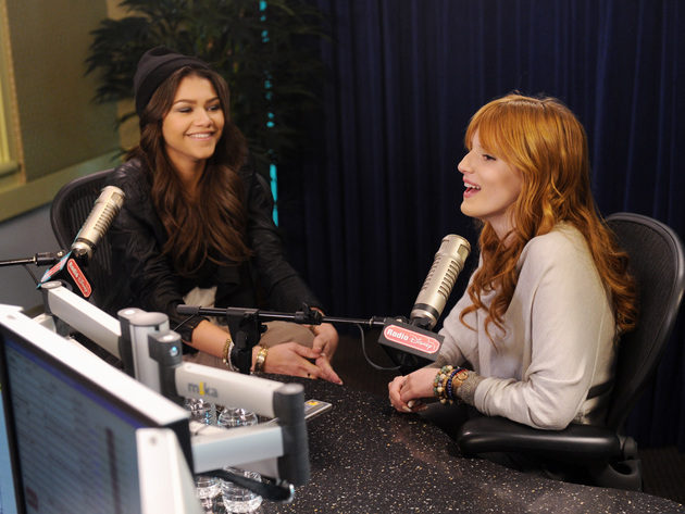 Zendaya & Bella Thorne in the Radio Disney studio