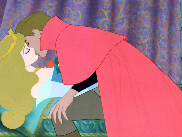 Just as the legend said, only this kiss would wake the beautiful princess.