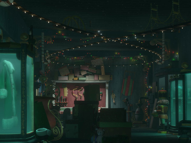 Hidden beneath santa's office lies his secret workshop. Here, the big guy finds peace and quiet f...