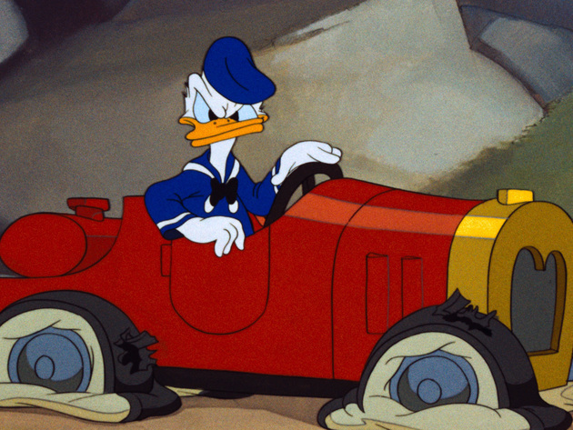 Donald doesn't have the best luck when it comes to getting from one place to the other.