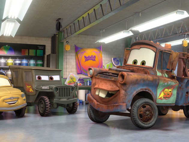 Mater is proud to join the Team McQueen pit crew and sport lucky number 95!
