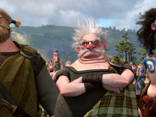 Lord MacGuffin, Lord Dingwall, and Lord Macintosh watch over the Highland Games.
