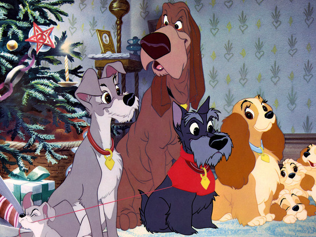 With their best pals around them, Lady and Tramp are reminded that friends can be family too.
