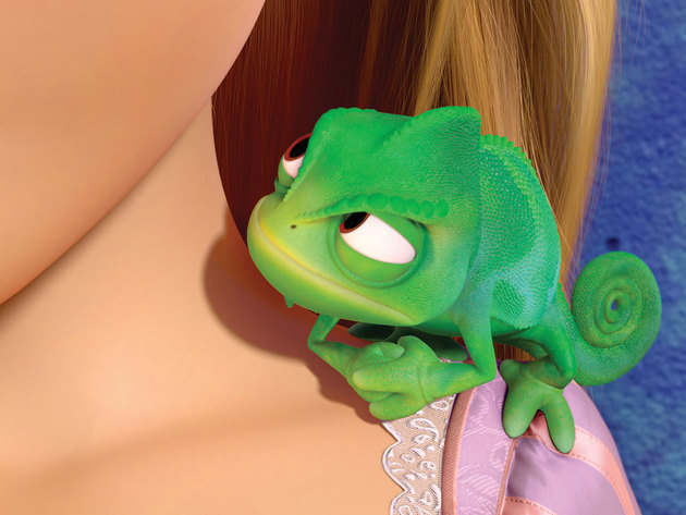 Pascal always has Rapunzel's back.