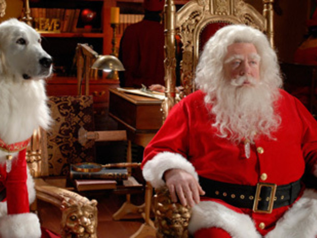 Santa Clause and Santa Paws looking regal.