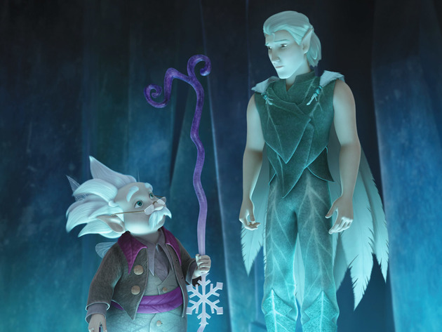 The leader of the Winter Fairies consults with Dewey about important decisions.