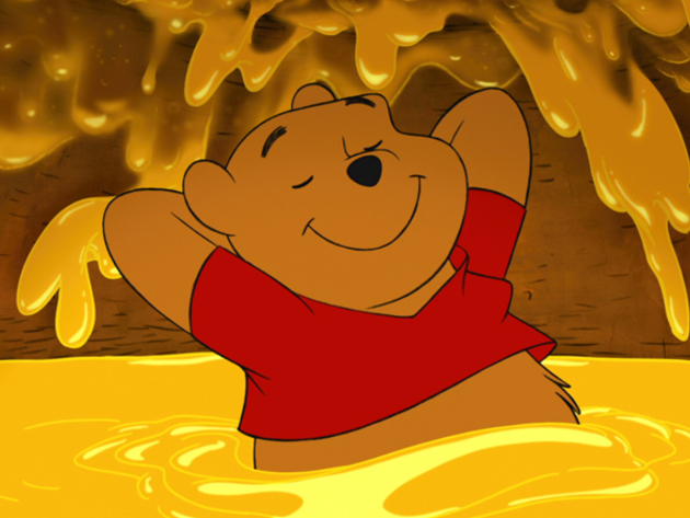 Hunny is all it takes to cheer up a Pooh Bear.