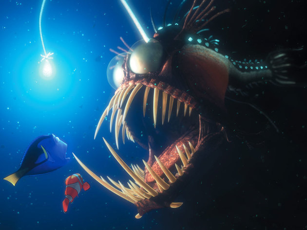 There's a lot of dangerous fish out there when Marlin and Dory leave the safety of the Great Barr...