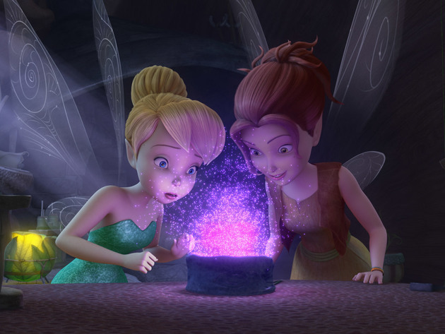 Zarina and Tinker Bell create a new kind of pixie dust