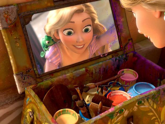 Rapunzel's positive attitude adds color to everything she touches.