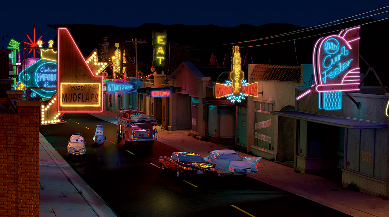 Disney Cars Radiator Springs Background