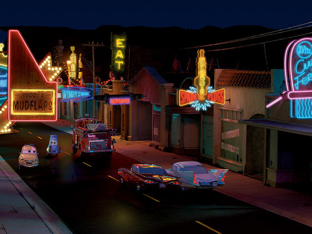 Disney Cars Radiator Springs Background