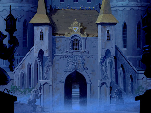 The spell has turned the castle dark and uninviting