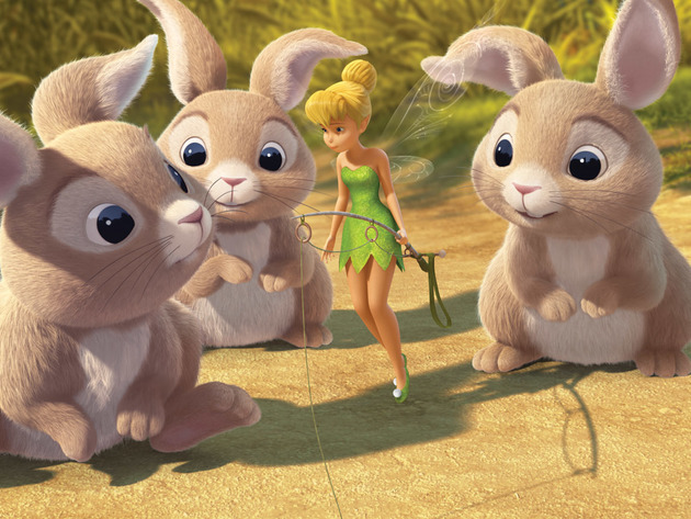 Tinker Bell wishes she could join the bunnies into the Winter Woods.