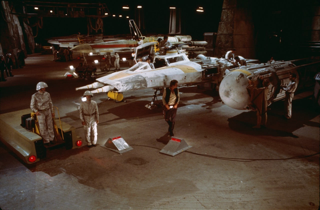 Y Wing at the Rebel Base on Yavin 4