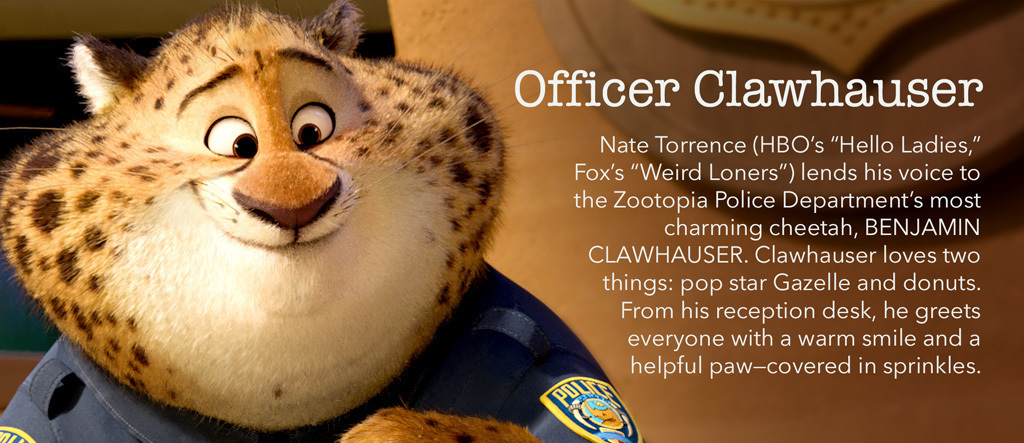 Zootopia - Officer Clawhauser Character - SG