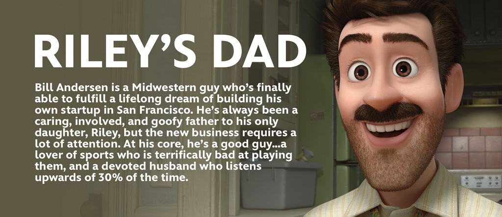 Inside Out - Riley's Dad Character