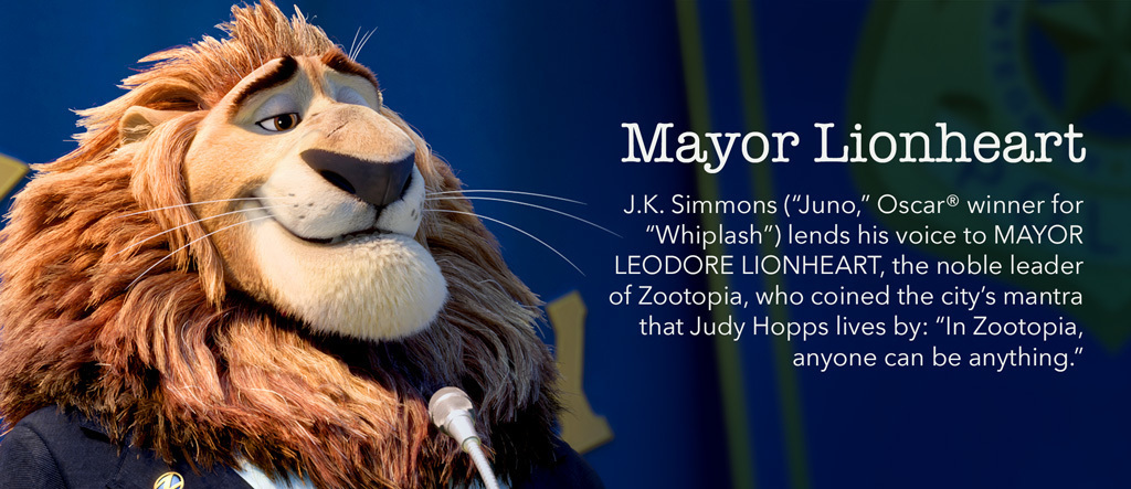 Zootopia - Mayor Lionheart Character - SG