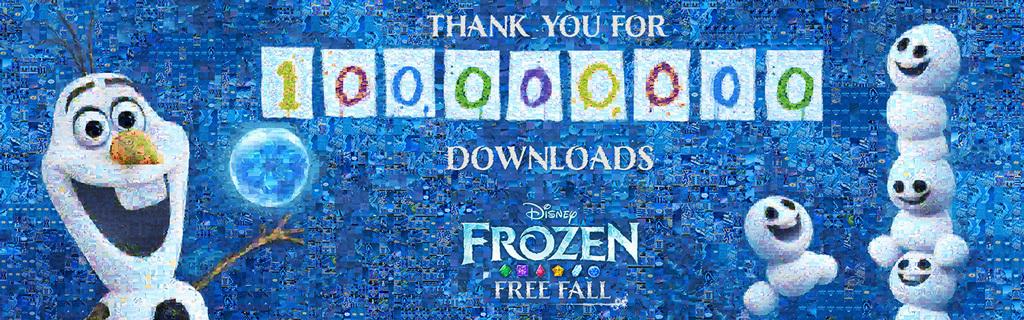 Frozen Free Fall: 100 Million Downloads Celebration Mosaic - ID
