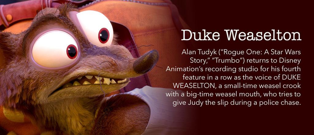 Zootopia - Duke Weaselton Character - SG
