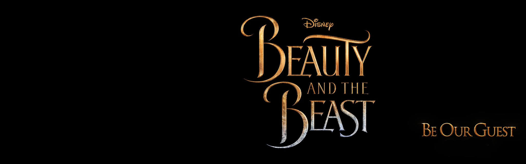 Beauty and the Beast title treament trailer hero