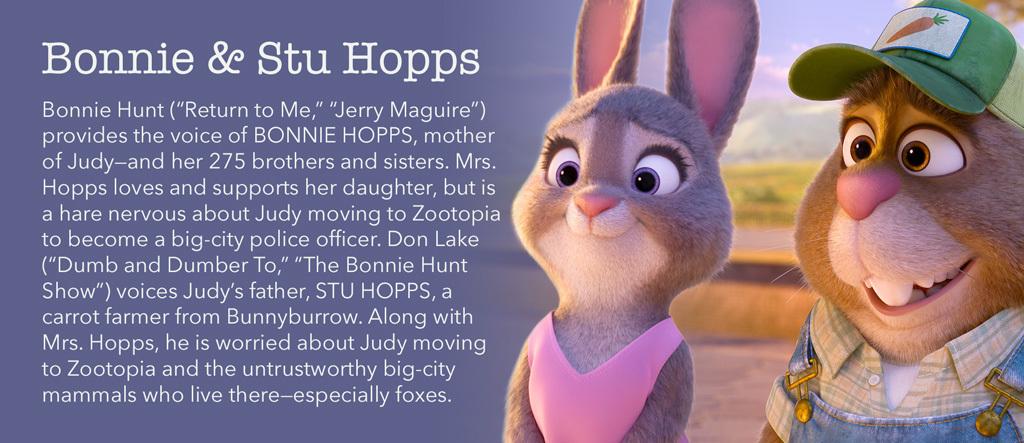 Zootopia - Bonnie & Stu Hopps Character - SG