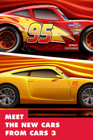 MEET THE NEW CARS FROM CARS 3