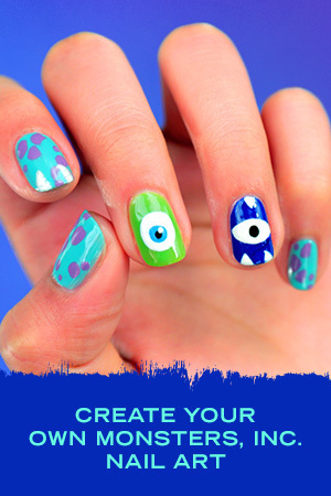 MONSTERS, INC. NAIL ART