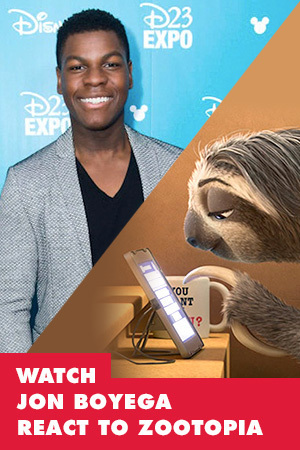 JOHN BOYEGA WATCHING ZOOTOPIA IS LITERALLY ALL OF US
