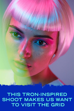 This Tron-Inspired Beauty Shoot Makes Us Want to Visit the Grid
