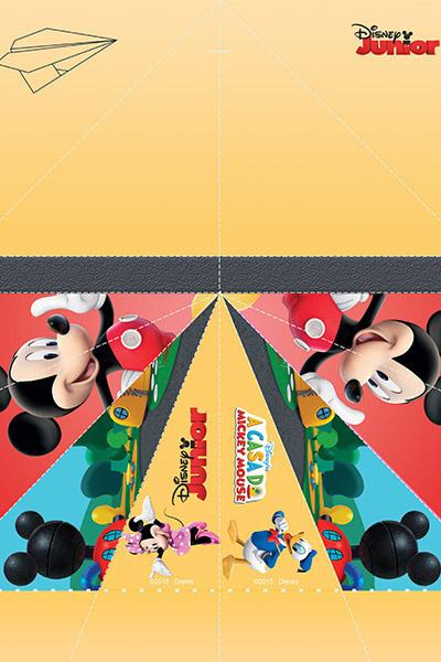 Avião de Papel do Mickey