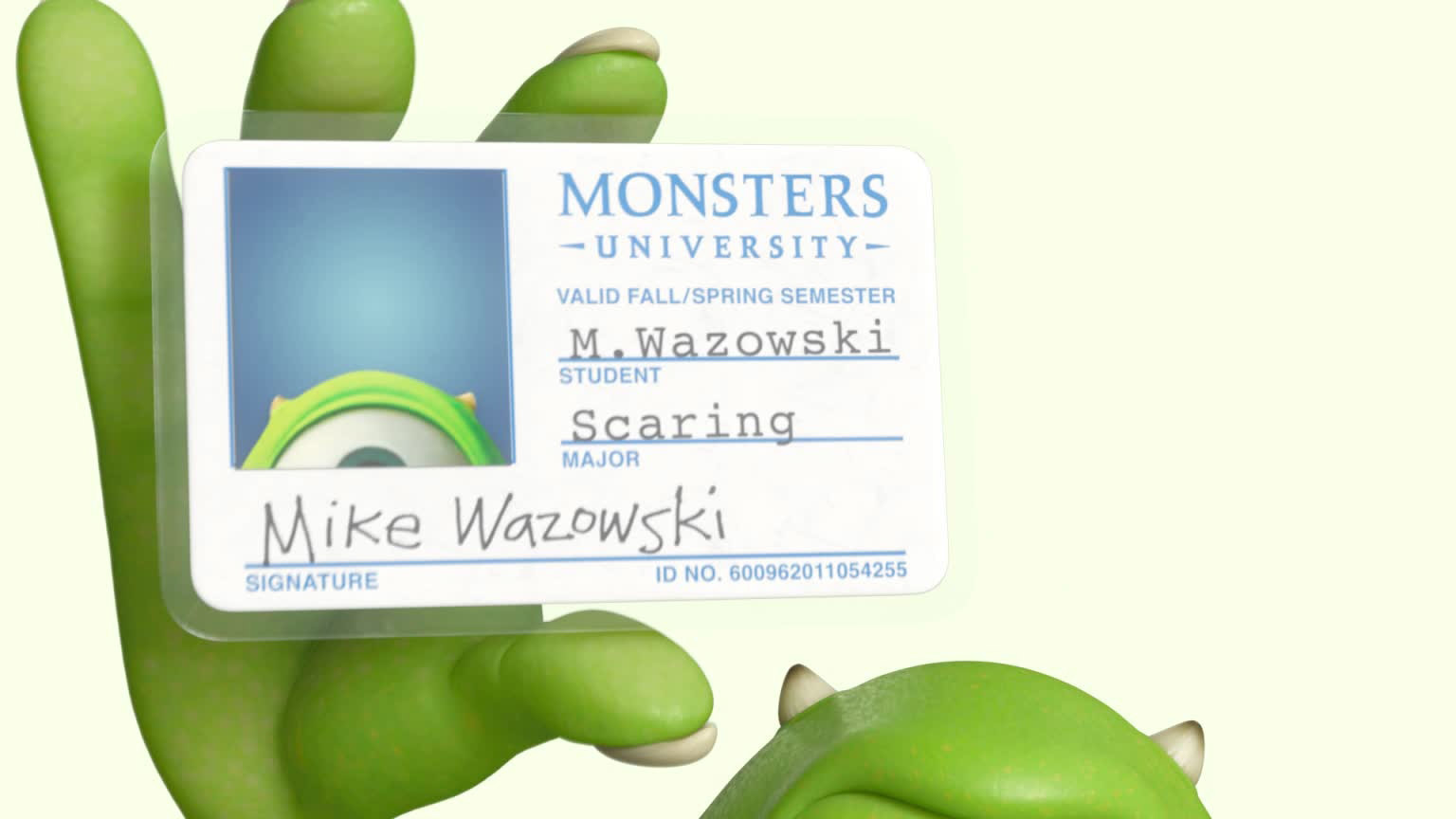 Monsters University ID Card Animation