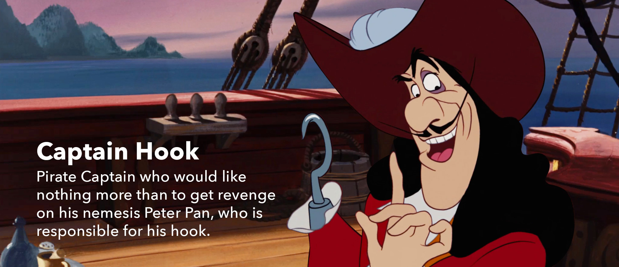 Peter Pan - character slider- Hook