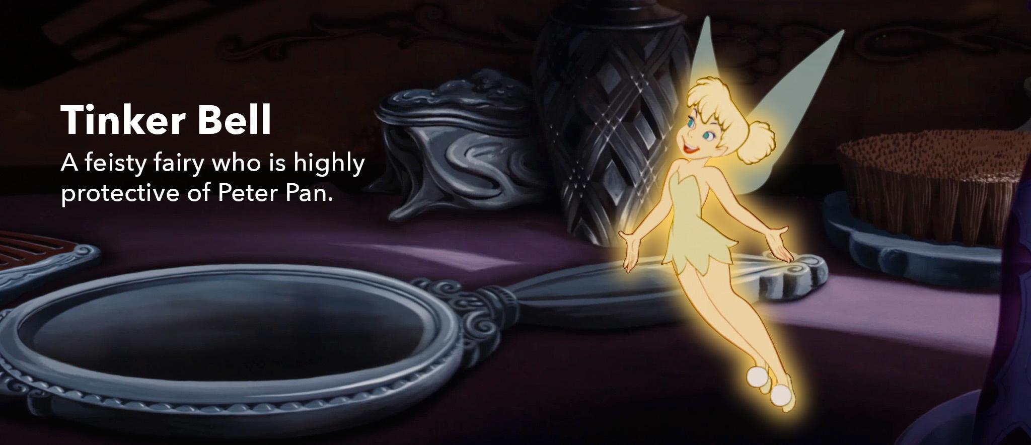 Peter Pan character slider Tink