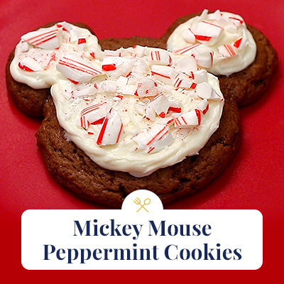 Mickey Mouse Peppermint Cookies