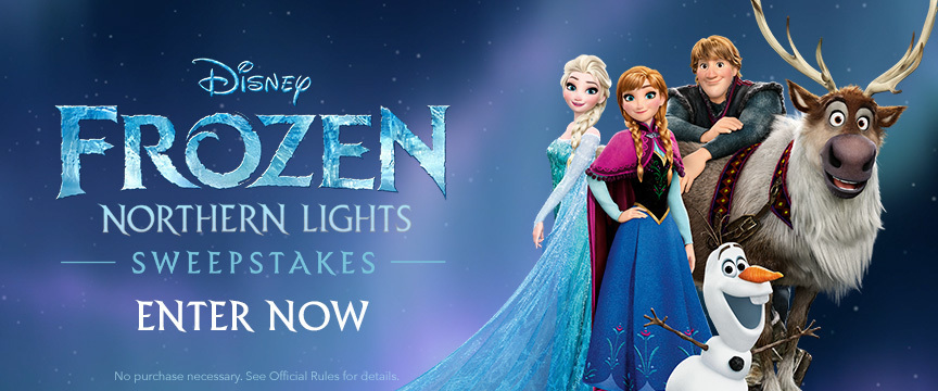 Frozen Sweepstakes - Side by Side