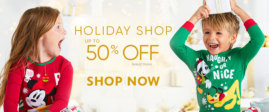 50% off at the Holiday Shop