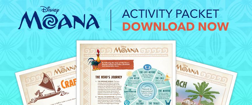 Moana Activity Packet