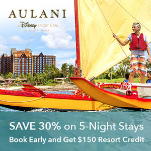 Save 30% on 5-Night Stays at Aulani