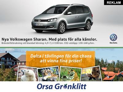 Tävla med nya Volkswagen Sharan