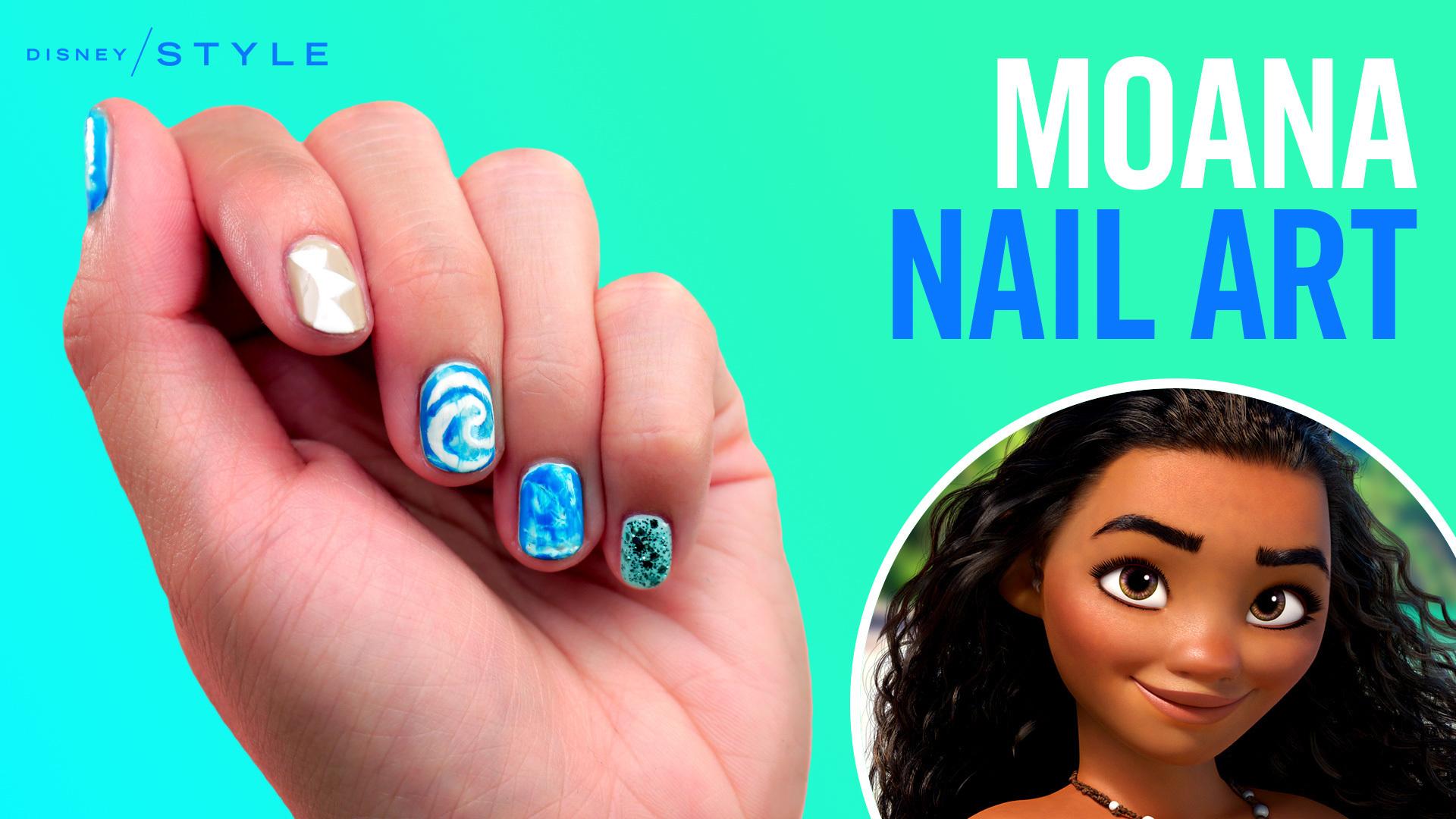 Moana Nail Art | TIPS | Disney Style