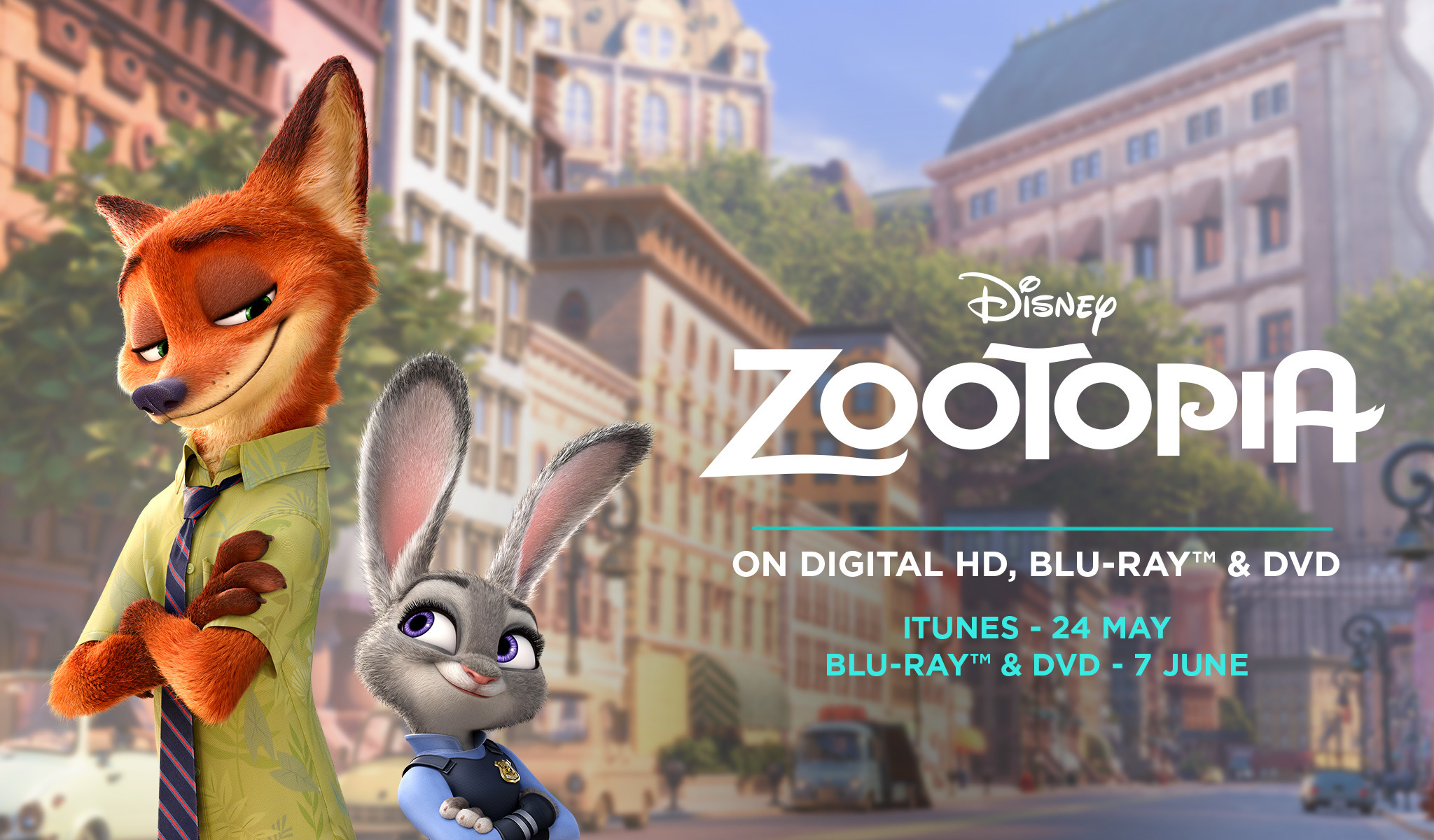 Zootopia On BluRay and Digital HD - SG