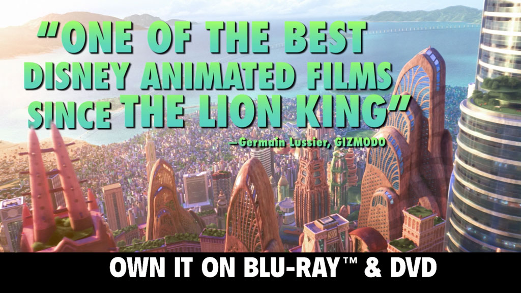 Zootopia: Own It First on Digital HD