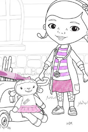 Doc and Lambie | Coloring Pages | Disney Junior