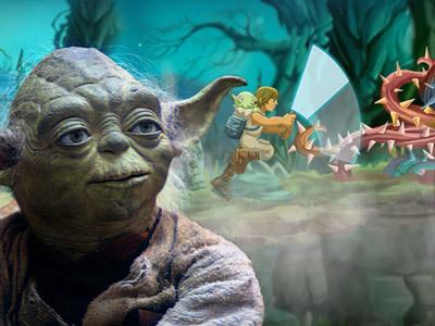 Treino Jedi do Yoda