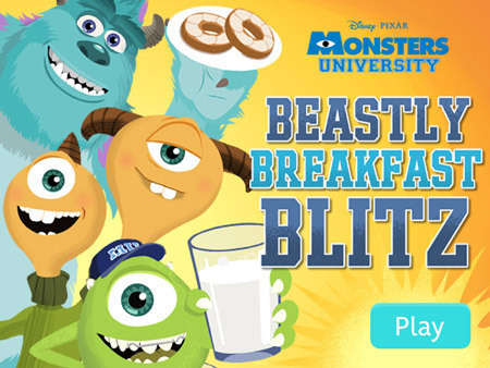 Monsters University – Beastly Breakfast Blitz